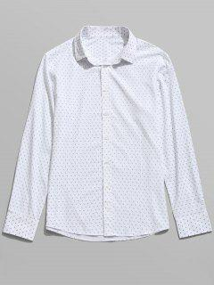 Long Sleeve Printed Shirt - White 2xl