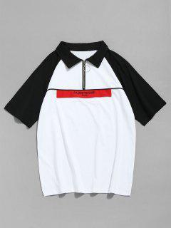 Camiseta De Béisbol De Medio Tono Con Dos Tonos - Blanco L