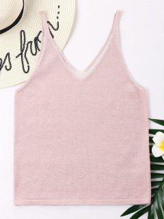 V Back Tank Top - Pink L