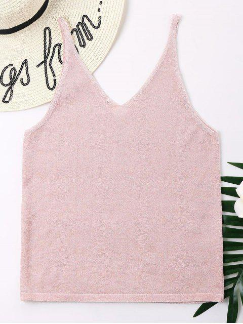 new V Back Tank Top - PINK XL Mobile