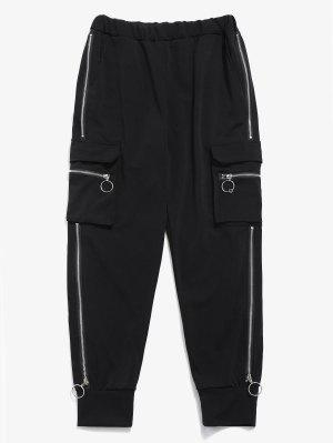 Seitentaschen Reißverschlüsse Jogger Pants