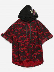Estampada 233;trica Capucha Con Rojo Camo Camiseta M Asim UPqTnw6xd