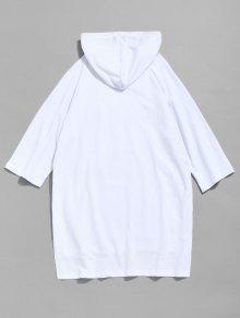 Xl Con Con Bolsillo o Dise De Blanco Camiseta Capucha De Canguro vwqFOW