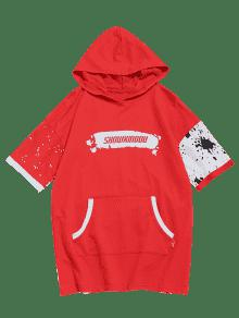 o Canguro Camiseta Bolsillo Rojo Xl Estampado De Dise De Con IFFUCqPw