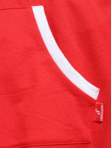 De Con Camiseta o Bolsillo Xl Canguro De Estampado Dise Rojo Bffxdp