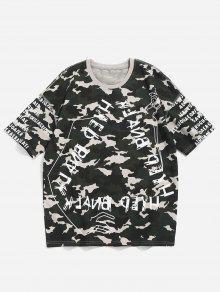 De Verde Xl Letras De Con Camo Camiseta Camuflaje Estampado wURAqTYWyI