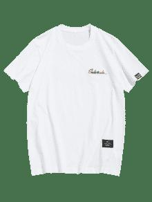 Bordado Xl Tee Xl Estampado Tee Bordado Blanco Blanco Estampado Bordado Estampado Tee Aqqrgt
