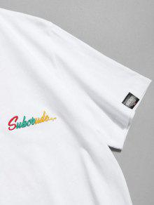 Tee Bordado Estampado Bordado Blanco Xl Tee Estampado 6xIxW1Frn