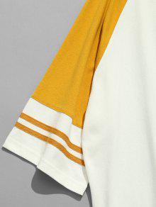 Ragl Xl 225;n Camiseta Con 233;isbol Mostaza Con Estampado Manga B De SpxqfEwAxv