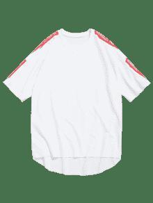 Asim Dobladillo Estampado 2xl Con Camiseta Blanco Rematar De Sin 233;trico gqYvgR4w