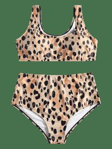 Alto Leopardo Bikini Leopardo De Grande L Talla Talle xg7d7SXw
