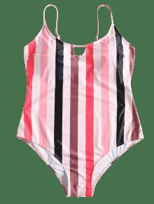 25777248feac7 29% OFF  2019 Cami Plus Size Striped Swimsuit In CARNATION PINK 3X ...
