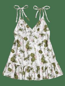Mini M Floral Blanco Con Descubiertos Hombros Vestido ZxWZnqrw1v