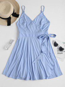 فستان ميني زلة - سماء الأزرق L