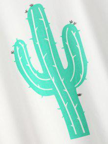 Camiseta De Del Cactus Blanco Manga S La Enrollada UtwBqt
