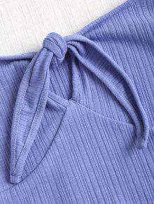 Azul S Hombros Delantera Corbata Con Pizarra Claro Descubiertos xq8CRI