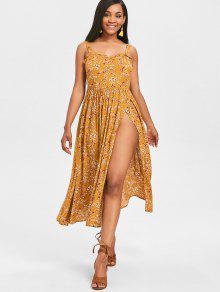 فستان طويل من كامي - نحلة صفراء L