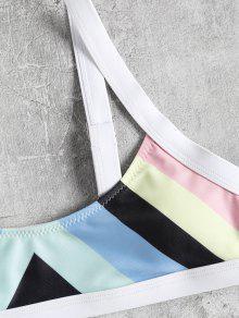 913a1a74cd8345 23% OFF  2019 Rainbow Striped Bralette Bikini In MULTI