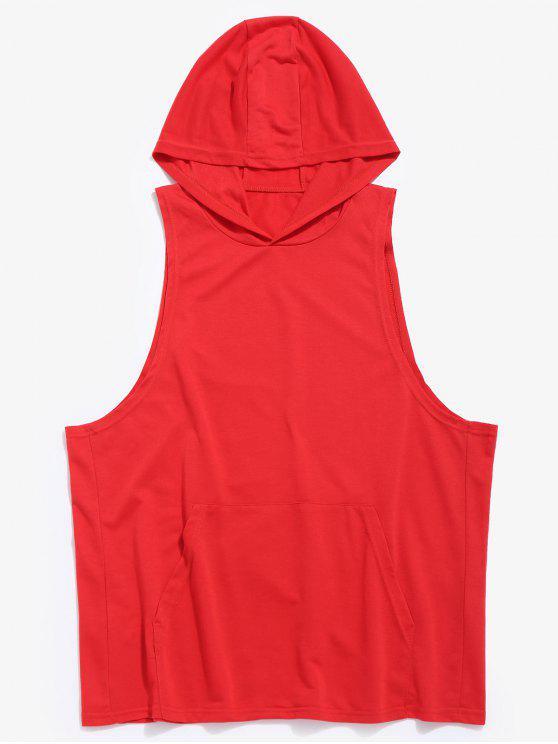 shop Tank Kangaroo Pocket Hoodie - RED S