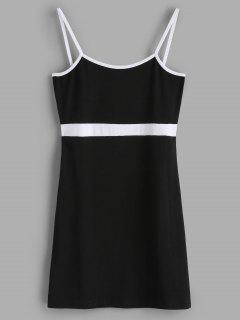 Knit Mini Bodycon Slip Dress - Black S