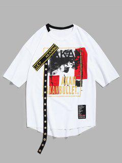 Camiseta Sin Mangas En Ojal Con Diseño De Dobladillo - Blanco S
