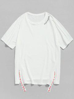 Camiseta Manga Corta Raglan Corta - Blanco M