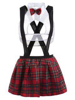 Costume De Lingerie étudiante à Carreaux - Multi-a M