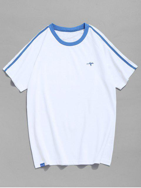 Camiseta Raglan Manga Contraste Trim - Azul Claro 2XL Mobile
