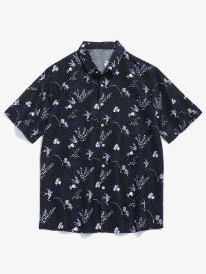 Blumenmuster Kurzarm Shirt