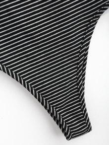 Overlap Overlap S Negro Bodysuit Striped Striped Bodysuit zqFTxdPE