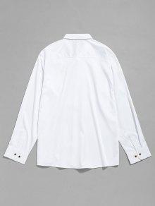 Botones Bordado Camisa Con De P De 5tt0wqUr