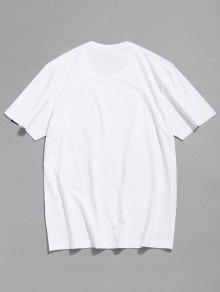 Camiseta De Letras 2xl Corta Manga Blanco Con Estampada r6Ar1nwq