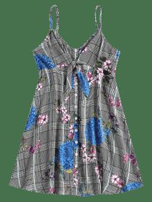 Fiesta Parte Negro Mini Vestido Delantera L Floral De qY7x5wI
