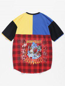 Tee Zip Block Color Checked 2xl Rojo t67HqA