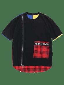 Block Checked 2xl Tee Color Rojo Zip pzqwgARg