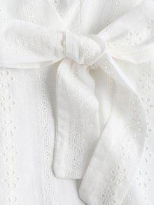 d1119ea782f7 22% OFF  2019 Ruffle Broderie Anglaise Party Dress In WHITE