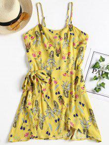 Overlap Open Back Slip Dress - Amarillo S