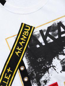 Camiseta Mangas 2xl Ojal Con Dise En Sin Dobladillo o Blanco De Pr5wvqP
