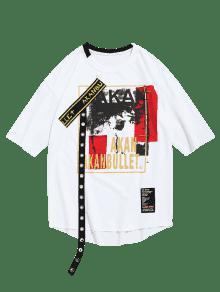 Camiseta Mangas Dise Dobladillo o Sin Blanco Ojal En 2xl Con De Or41Ofqw