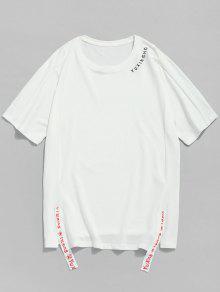 Raglan Camiseta Blanco 2xl Corta Corta Manga aqqPB