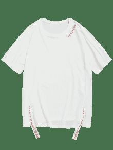 Blanco Manga Raglan 2xl Corta Corta Camiseta a8ZUT