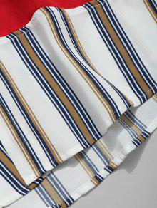 Camisa A Casual Con Rayas Descubiertos Blanco L Hombros a8Sapq1rw