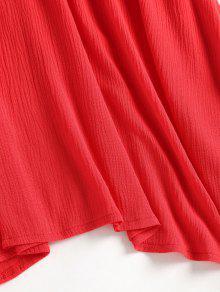 Acampanado S Con Largo Lazo Rojo Vestido 4xnPSzq