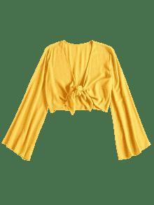 Lazo Amarillo Anudado Corto Top Sol Con S De w7f6E