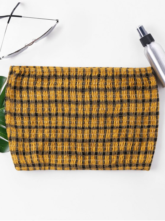 64cd85be2fd 20% OFF  2019 Smocked Crop Tube Top In BEE YELLOW