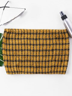 Smocked  Crop Tube Top - Bee Yellow L