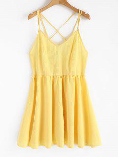 Backless Cami Sundress - Yellow S