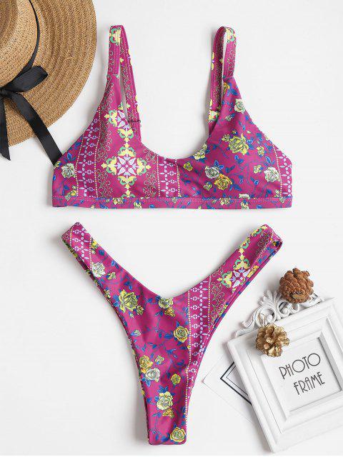 Bikini à Imprimé - Orchidée Moyenne L Mobile