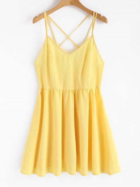 Rückenfreies Cami Sommerkleid - Gelb L Mobile