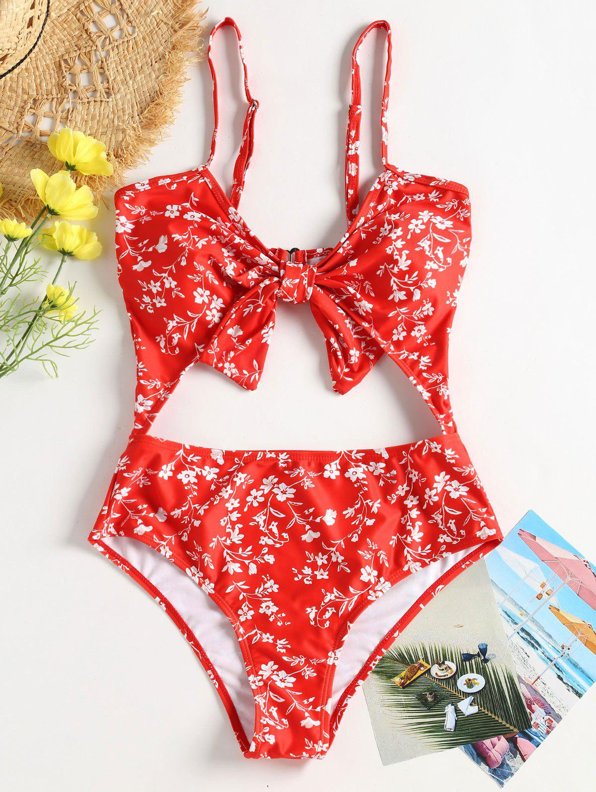 Floral Cut-Out Knotted